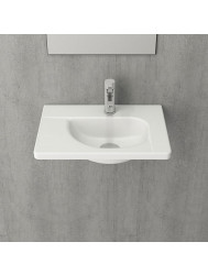 Fontein Creavit 44,5x31x12,5 cm Inclusief 1 Kraangat Mat Wit