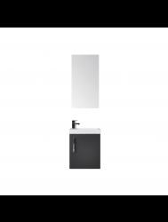 Fonteinkast Sanicare Q40 Hoogglans Antraciet (spiegel optioneel)