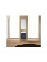 Fonteinkast Sanicare Q40 Hoogglans Grey-Wood (spiegel optioneel)