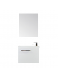 Fonteinkast Sanicare Q40 Hoogglans Wit (spiegel optioneel)
