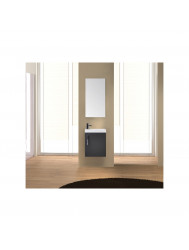 Fonteinkast Sanicare Q40 Hoogglans Schots-Eiken (spiegel optioneel)