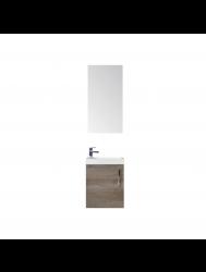 Fonteinkast Sanicare Q40 Hoogglans Truffel (spiegel optioneel)