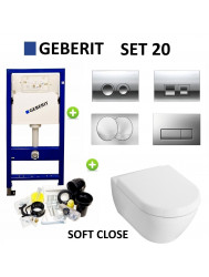 Geberit up100 set20 Subway 2.0 met Delta drukplaten