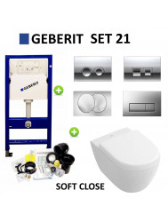 Geberit up100 set21 Subway 2.0 Compact met Delta drukplaten