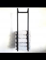 Handdoekenrek Industrieel 95x25x20 cm Zwart