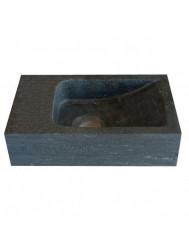 Hardstenen fontein Mini links zonder kraangat 18x30x8 cm (Fonteinen)