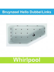 Ligbad Bruynzeel Hello offset links 160 x 90 cm Balboa Whirlpool Dubbel systeem