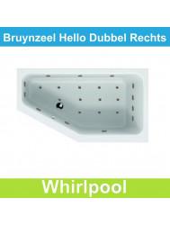 Whirlpool Bruynzeel Hello offset rechts 160 x 90 cm Dubbel systeem | Tegeldepot.nl