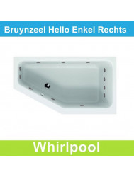 Whirlpool Bruynzeel Hello offset rechts 160 x 90 cm Enkel systeem | Tegeldepot.nl