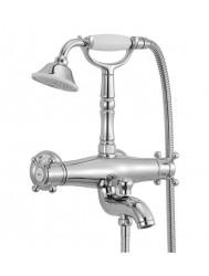 Huber Victorian Thermostatische Badkraan met douchegarnituur Brons 194VT01HBA