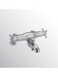Huber Victorian Thermostatische Badkraan voor badrandmontage Chroom/Goud 252C.01H.CA