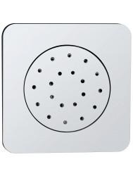 Inbouw verstelbare zijdouche vierkant 135x135 ABS chroom (Regendouche onderdelen)