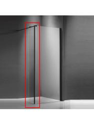 Zijwand voor Inloopdouche Sanitop Helder Glas met Mat Zwart Profiel 40x200cm 8 mm