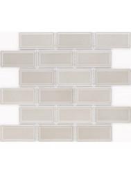 Vloer Mozaiek Jos Strucco Plaster 29x34 cm Gris Brick Mat (doosinhoud 0.98 m2)