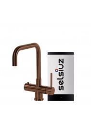 Kokendwaterkraan Selsiuz Steel Haaks Copper Inclusief Combi Extra Boiler