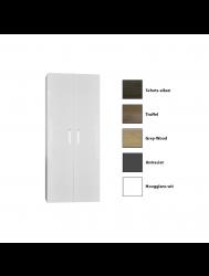 Kolomkast Sanicare Q6/Q14 2-Deurs Soft-Closing Chromen Greep 160x67x32 cm Grey-Wood