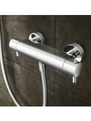 Douchethermostaat Hotbath Laddy opbouw onderaansluiting RVS Look