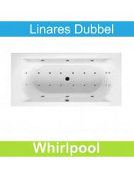 Ligbad Riho Linares 180 x 80 cm Mat Wit Whirlpool Dubbel systeem