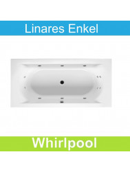 Whirlpool Riho Linares 180x80 cm Mat Wit Enkel systeem