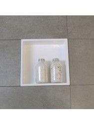 Inbouwnis Luca Sanitair 29.5x29.5x8 cm Polystone Glans Wit