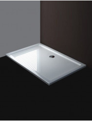 Luxe douchebak SMC rechthoek 120 x 80 x 4 cm wit small
