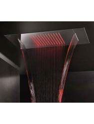 Hoofddouche Hotbath Mate inbouw met cascade dualflow LED RVS Look | Tegeldepot.nl