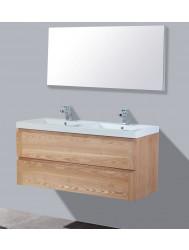 Badkamermeubelset Sanilux Trend Wood 120x47x50 cm 2 Kraangaten Massief Hout