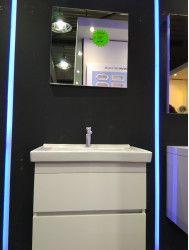 OUTLET badkamermeubel set van 60cm met spiegel op=op!