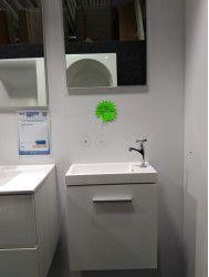 OUTLET fonteinmeubelset met spiegel wit inclusief kraan op=op!