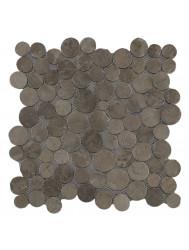 Mozaïek Coin Light Brown Marmer 30x30 cm (Prijs per 1m²)