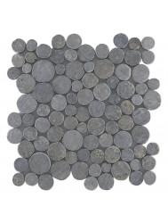 Mozaïek Coin Light Gray Marmer 30x30 cm (Prijs per 1m²)