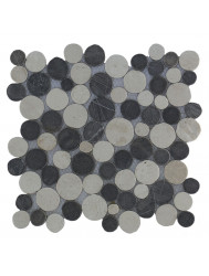 Mozaïek Coin Mix Gray/Cream Marmer 30x30 cm (Prijs per 1m²)