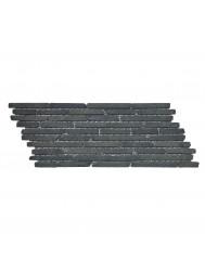Mozaïek Horizontaal 10 Black Gray Lava/Riverstone 30x10 cm (Prijs per 1m²)