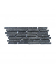 Mozaïek Horizontaal 15 B Black Gray Lava/Riverstone 30x15 cm (Prijs per 1m²)