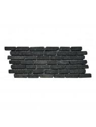 Mozaïek Horizontaal 15 Black Gray Lava/Riverstone 30x15 cm (Prijs per 1m²)