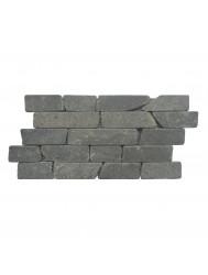 Mozaïek Horizontaal 30 Black Gray Lava/Riverstone 30x15 cm (Prijs per 1m²)