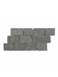 Mozaïek Horizontaal 50 Black Gray Lava/Riverstone 30x15 cm (Prijs per 1m²)
