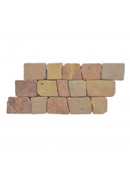 Mozaïek Horizontaal 50 Yucatan Brown Marmer 30x15 cm (Prijs per 1m²)