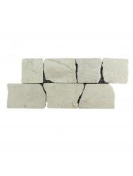 Mozaïek Horizontaal 70 Cream Marmer 30x15 cm (Prijs per 1m²)