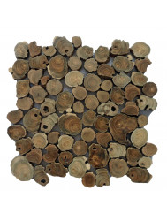 Mozaïek Hout Coin Root Old Teak 30x30 cm (Prijs per 1m²)