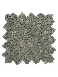 Mozaïek Micro Connecting Black Gray Lava/Riverstone 30x30 cm (Prijs per 1m²)