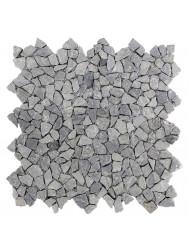 Mozaïek Micro Connecting Light Gray Marmer 30x30 cm (Prijs per 1m²)