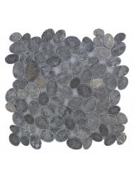 Mozaïek Oval Gray Blue Marmer 30x30 cm (Prijs per 1m²)