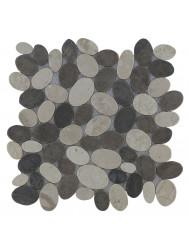 Mozaïek Oval Mix Gray/Cream Marmer 30x30 cm (Prijs per 1m²)