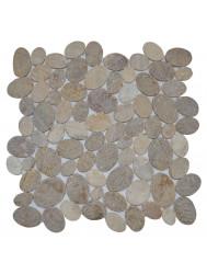 Mozaiek Oval Mix Onyx/Sunset Brown Marmer 30x30 cm (Prijs per 1m²)