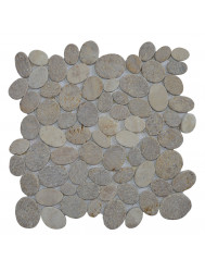 Mozaïek Oval Mix Onyx/Sunset Brown/Cream Marmer 30x30 cm (Prijs per 1m²)