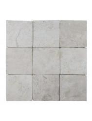 Mozaïek Parquet 10x10 Cream Tumble Marmer 30x30 cm (Prijs per 1m²)