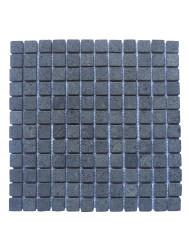 Mozaïek Parquet 2,4x2,4 Black Gray Lava/Riverstone 30x30 cm (Prijs per 1m²)