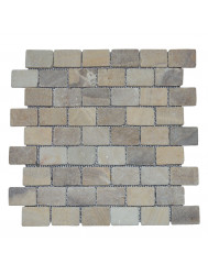 Mozaïek Parquet 3,2x4,8 Onyx Tumble Marmer 30x30 cm (Prijs per 1m²)