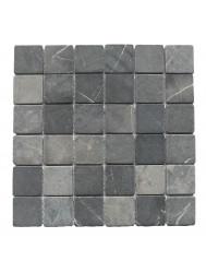 Mozaïek Parquet 5x5 Gray Tumble Marmer 30x30 cm (Prijs per 1m²)